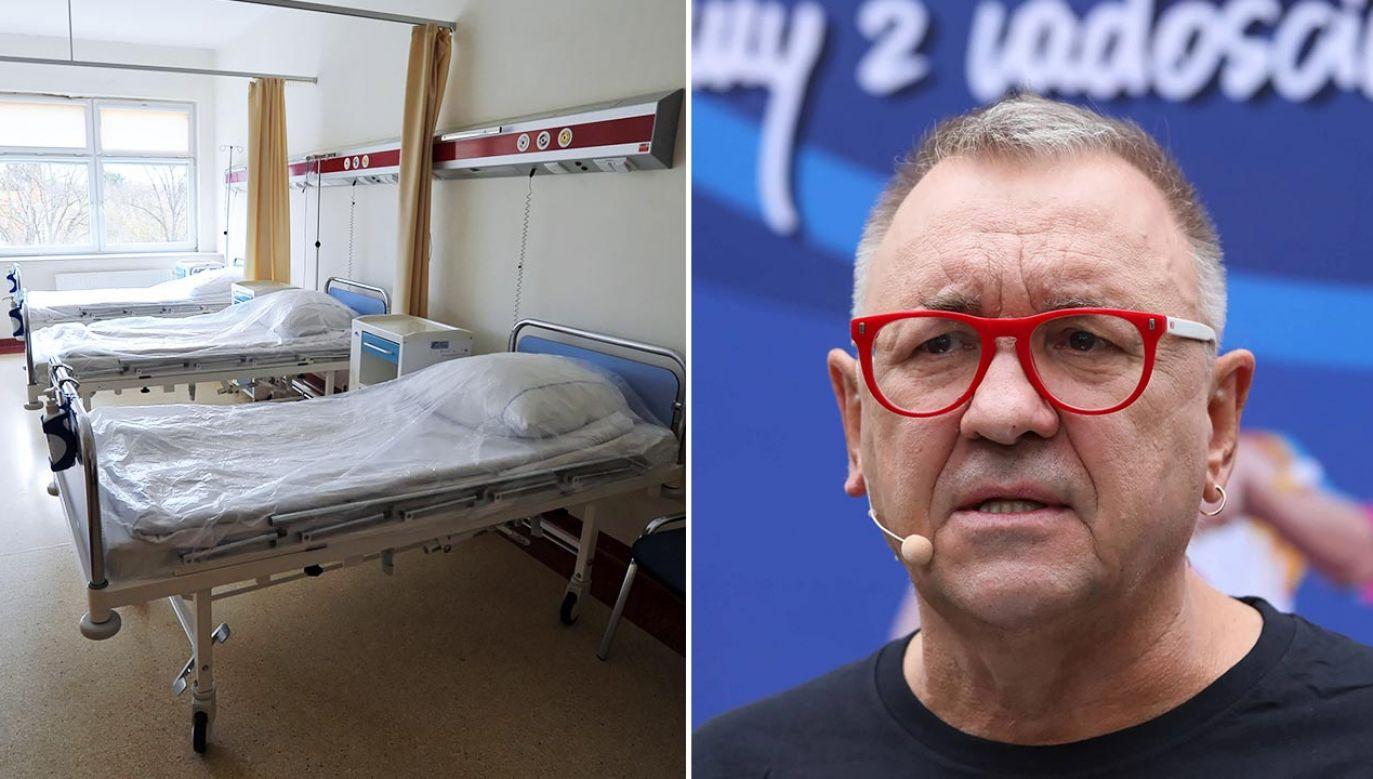 """Jerzy Owsiak informował, że """"kategorycznie nie wyraża zgody"""" na korzystanie z łóżek (fot. PAP/Marcin Bielecki, Tomasz Gzell)"""