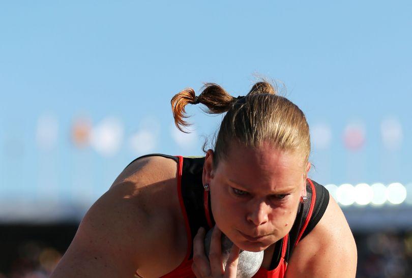 Najlepszą kulomiotką okazała się Nadine Kleinert (fot. Getty Images)