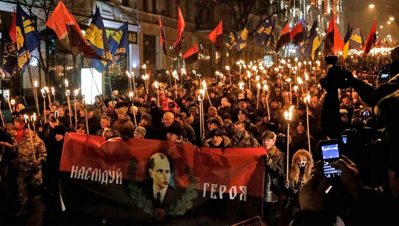 Stepan Bandera wciąż jest otoczony czcią na Ukrainie (fot. Wiki 3.0/ВО Свобода)
