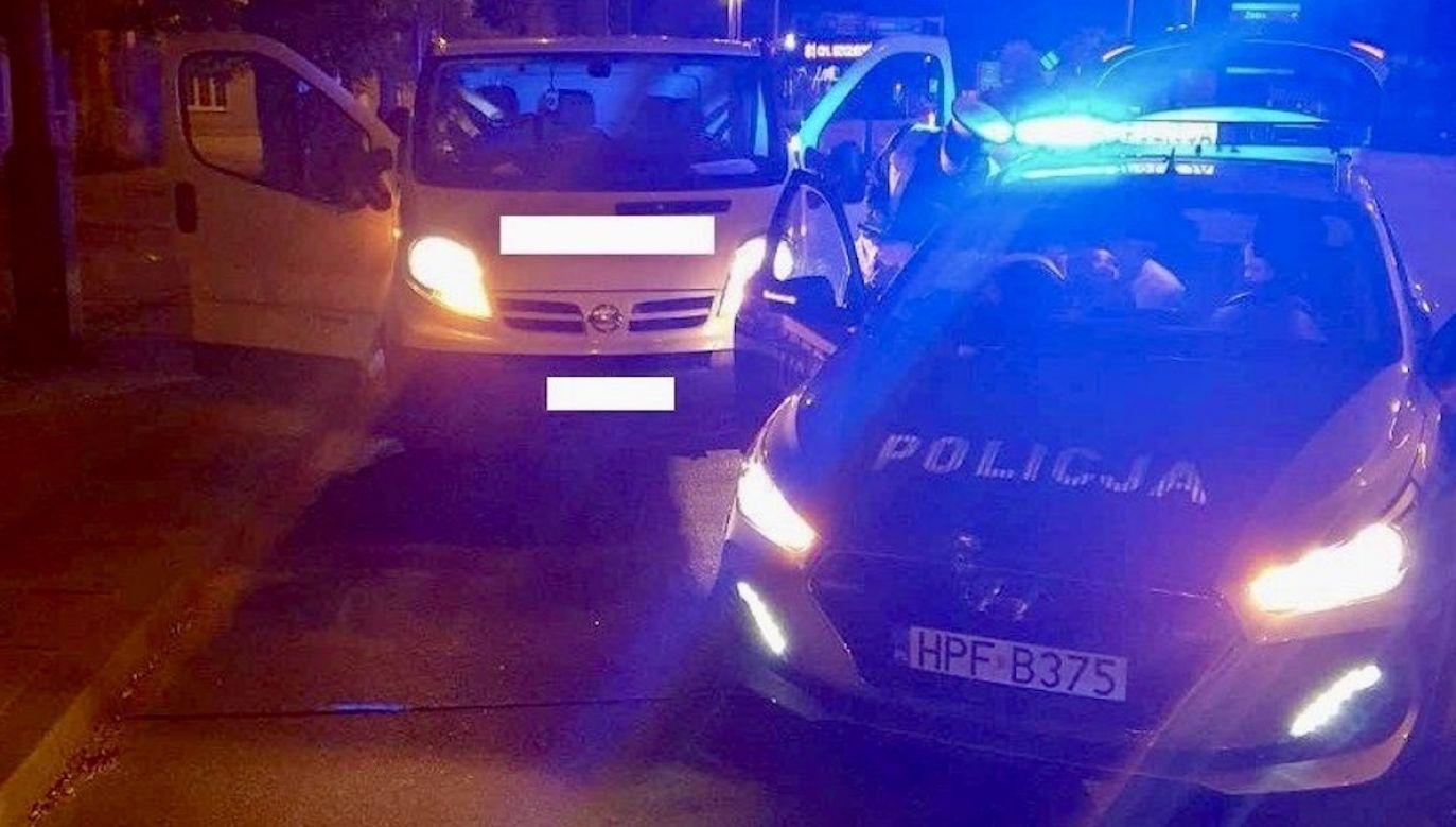 Pijany kierowca próbował uciekać pieszo (fot. Policja łódzka)