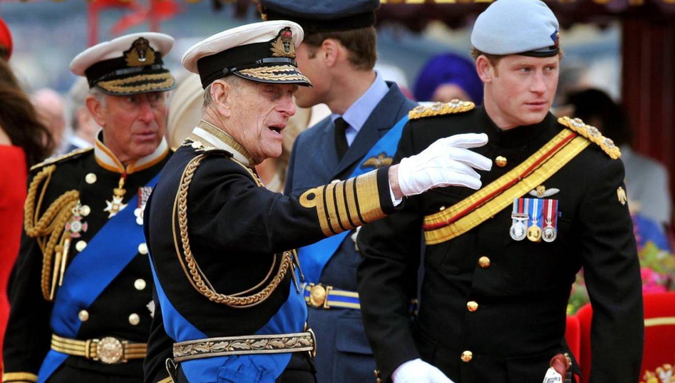 Książę Filip (C) zmarł w wieku 99 lat (fot. PAP/EPA/JOHN STILLWELL)