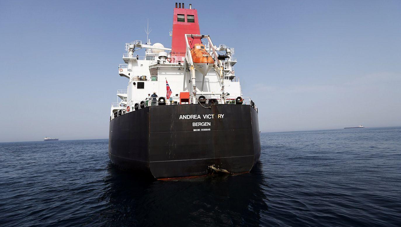 """Lider wspieranych przez Iran Hutich Mohammed Ali al-Huti oświadczył, że """"podejrzany"""" statek przechwycono na wodach Jemenu (fot. REUTERS/Satish Kumar)"""