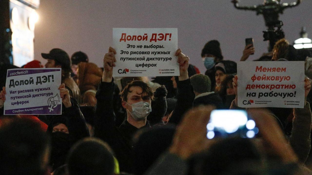 W ocenie niezależnych obserwatorów wyniki wyborów zostały sfałszowane (fot. PAP/ITAR-TASS/Alexander Shcherbak)