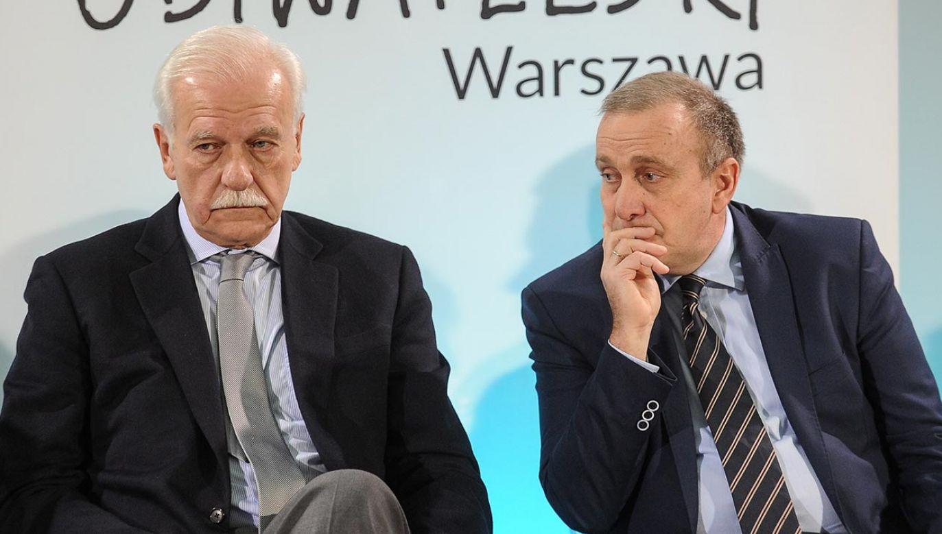Przykre dla PO tezy Olechowskiego (fot. PAP/Marcin Obara)