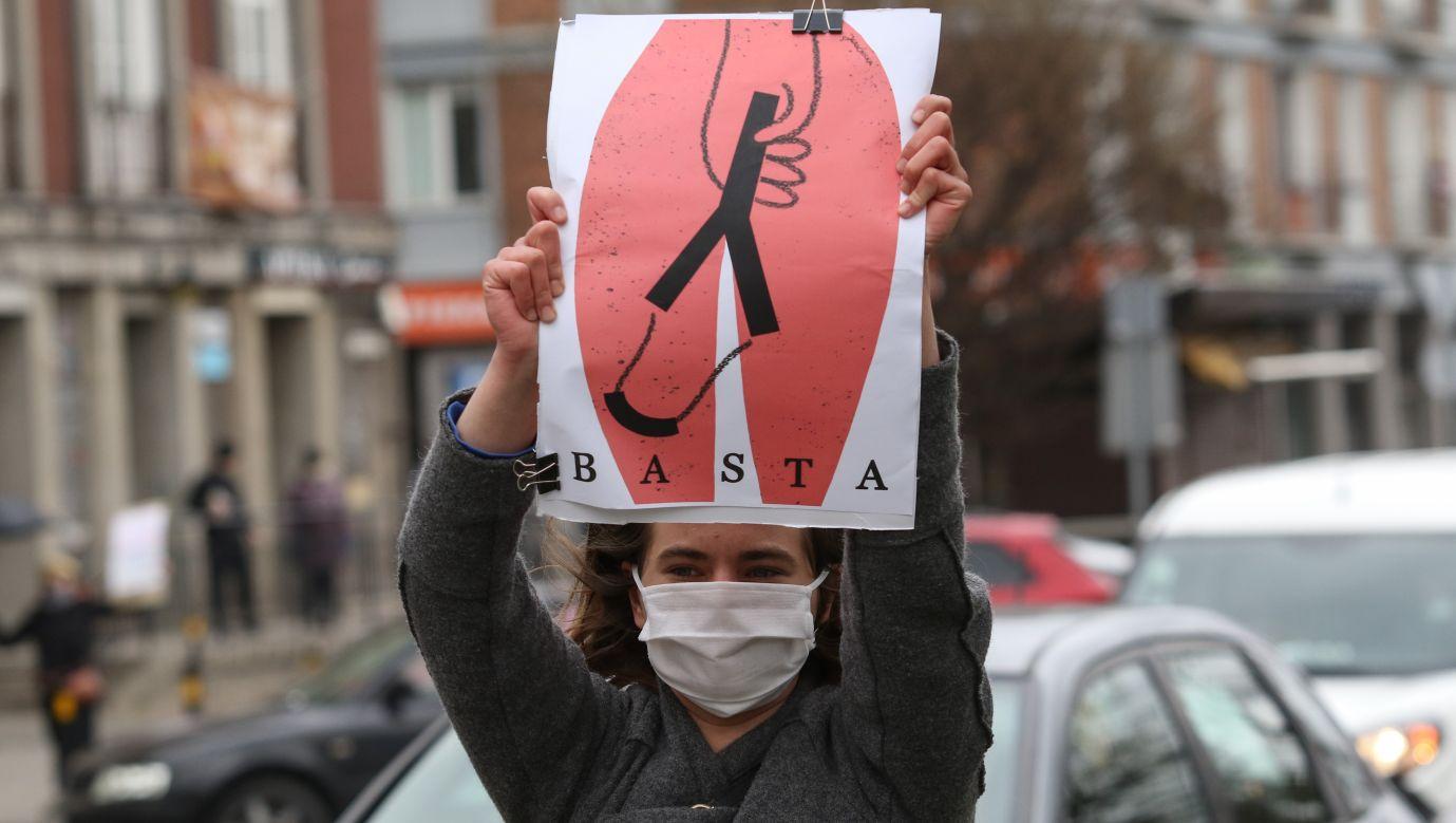 Proaborcyjna demonstracja w Gdańsku 15 kwietnia 2020. Fot. Michal Fludra/NurPhoto via Getty Images