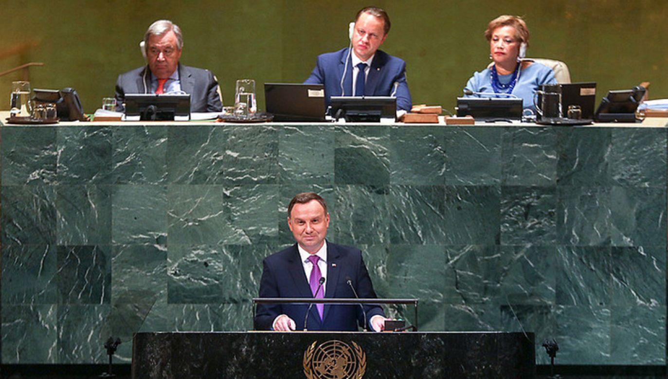 Andrzej Duda zabierze głos na forum Zgromadzenia Ogólnego ONZ (fot. KPRP/Jakub Szymczuk)
