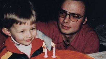 Mały Rafał i jego tata (fot. archiwum rodzinne)