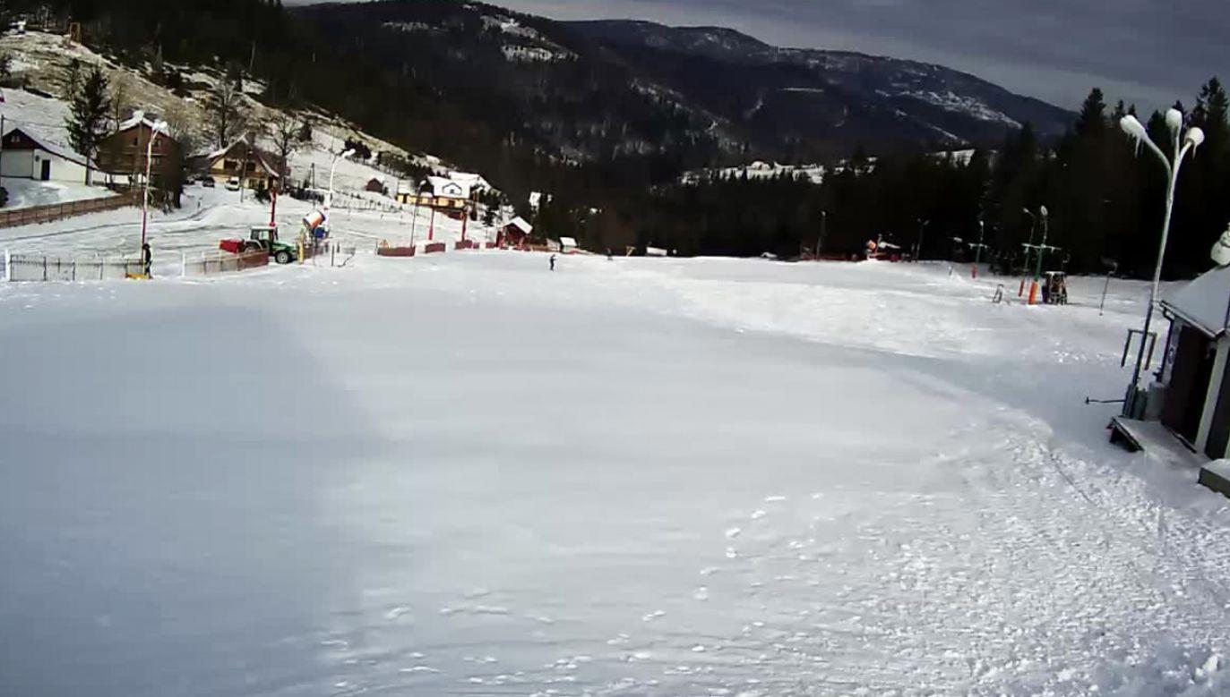 Aura sprzyja uruchomieniu armatek śnieżnych (fot. bialykrzyz.com.pl)