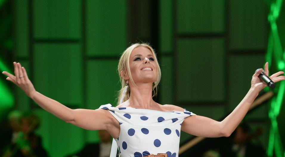 """Halina Mlynkova przypomniała utwór, który kiedyś wykonywała Irena Santor – """"Tych lat nie odda nikt"""" (fot. I. Sobieszczuk/TVP)"""