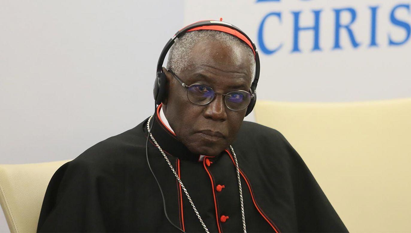 Kardynał Robert Sarah (fot. PAP/Leszek Szymański)
