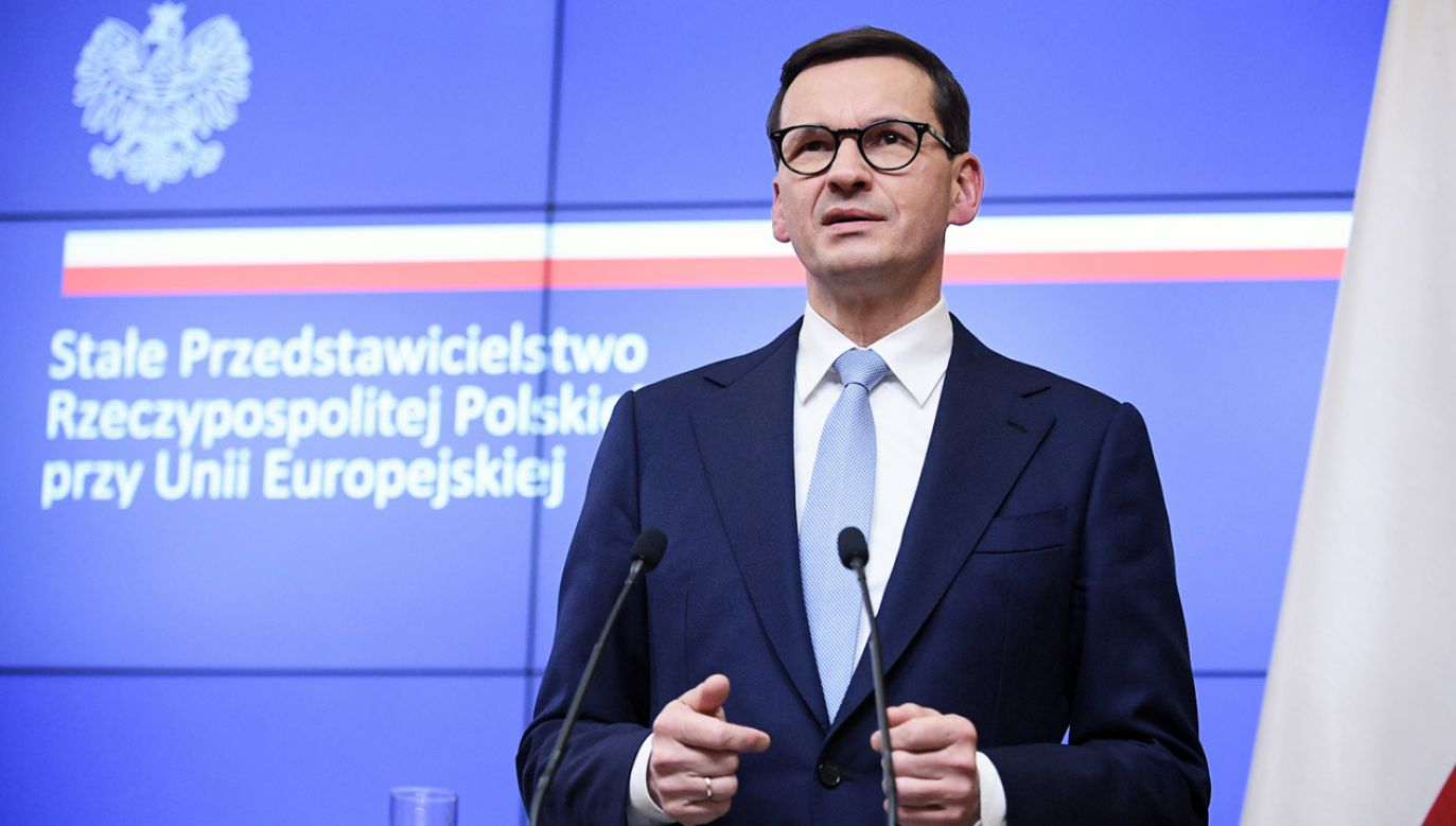 Premier Mateusz Morawiecki o dyktacie Komisji Europejskiej (fot. PAP/Marcin Obara)