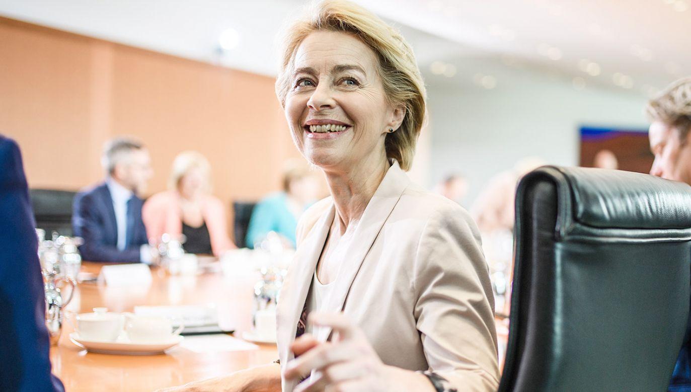 Nowa przewodnicząca Komisji Europejskiej Ursula von der Leyen (fot. PAP/EPA/CLEMENS BILAN)
