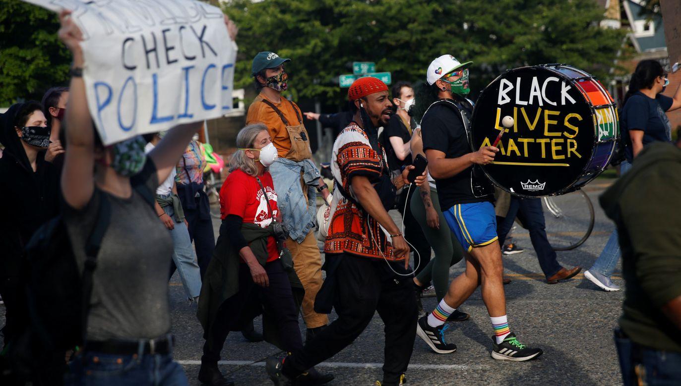 Protest po śmierci George'a Floyda w Seattle (fot. REUTERS / Lindsey Wasson, zdjęcie ilustracyjne)