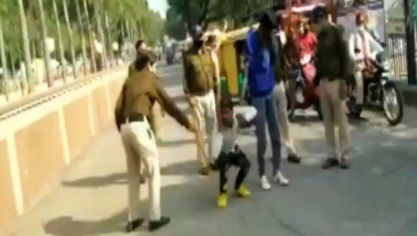 Policja interweniowała w nietypowy sposób (fot. TT/ANI)