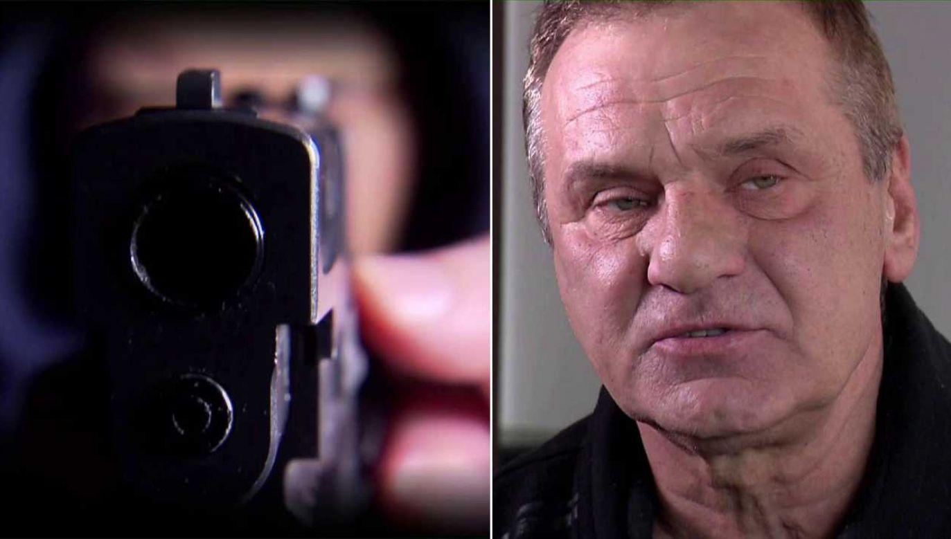 Zenon Kubicki stracił pistolet hukowy i grozi mu więzienie (fot. TVP1)