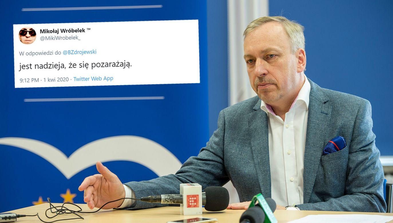 Hejterski wpis i reakcja polityka PO (fot. PAP/Maciej Kulczyński)