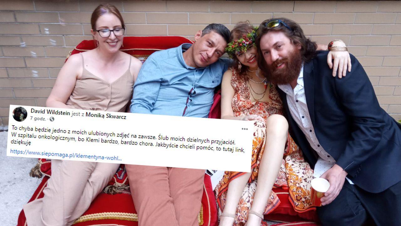 Apel o wsparcie Klementyny Wohl, dziennikarki TVP chorej na nowotwór (fot. Facebook/David Wildstein)