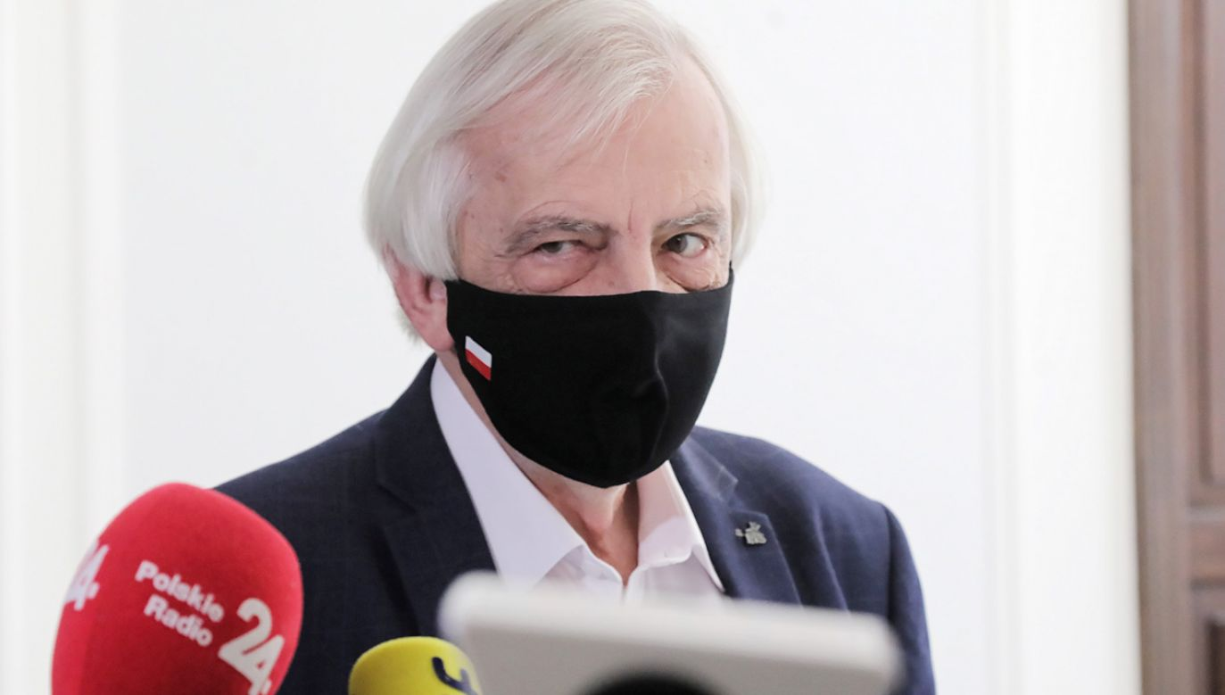 Szef klubu PiS Ryszard Terlecki (fot. PAP/Wojciech Olkuśnik)