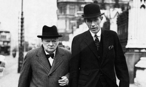 Winston Churchill i lord Halifax, 1938 rok. Fot. Wikimedia