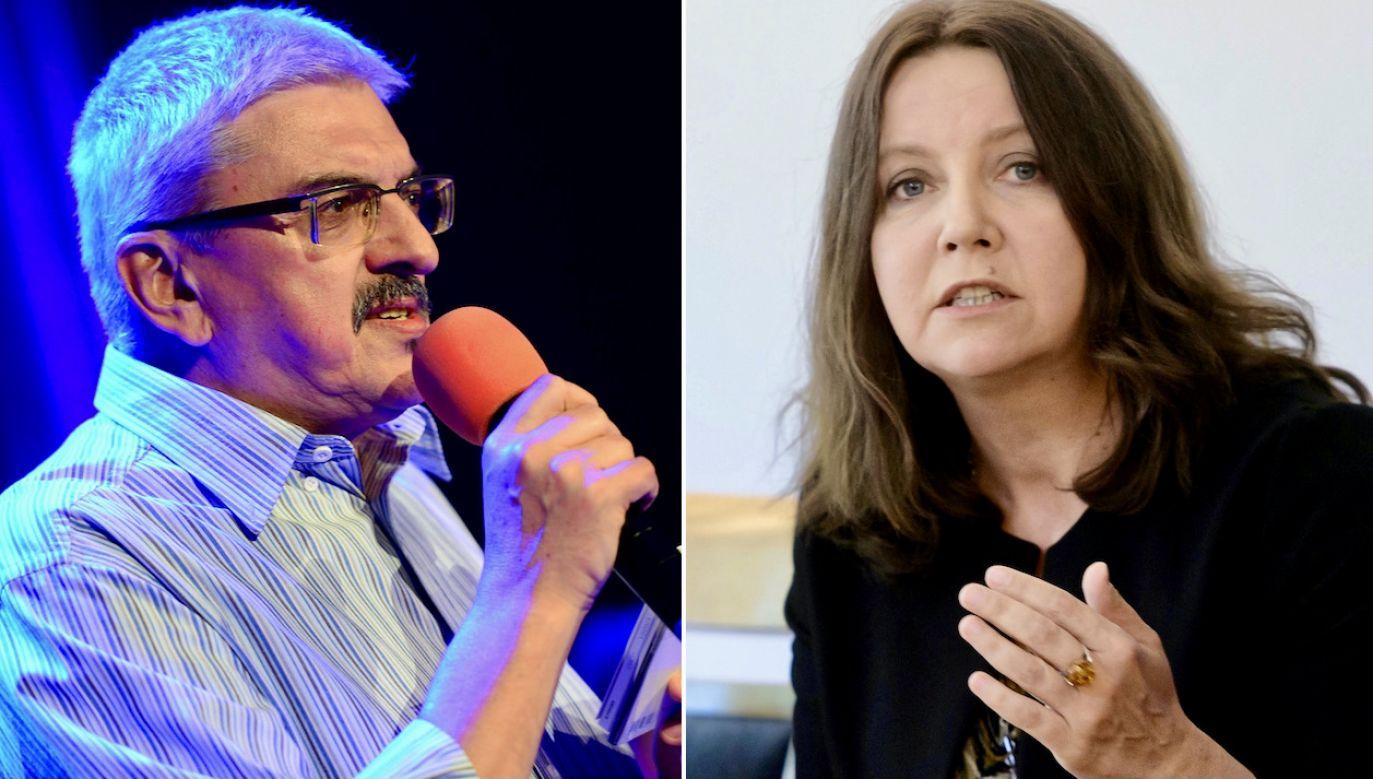 Marek Niedźwiecki, Joanna Lichocka (fot. arch.PAP/Jacek Turczyk, PAP/Jakub Kaczmarczyk)