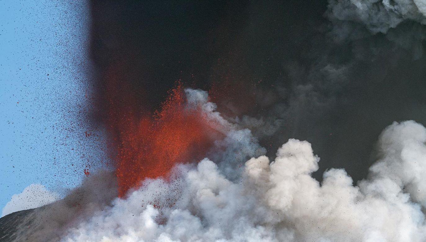 Wybuch Etny (fot. Marco Restivo/Barcroft Media via Getty Images)