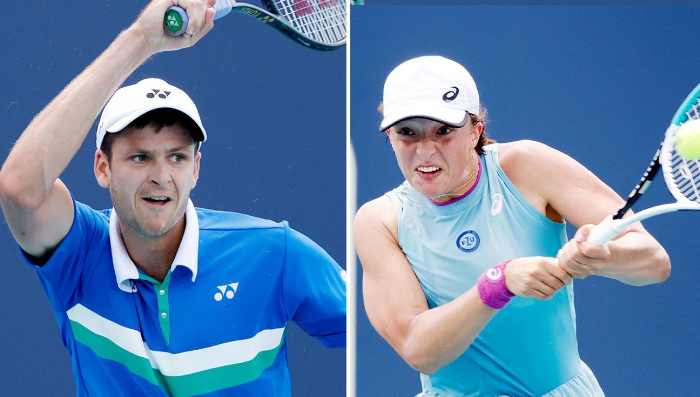 Dobra forma polskich tenisistów (fot. PAP/EPA/RHONA WISE)
