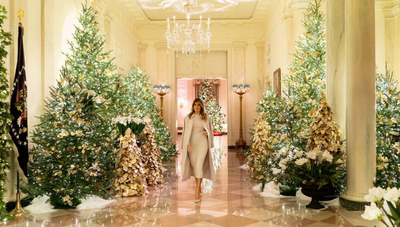 """Motyw tegorocznych dekoracji to """"The Spirit of America"""" (fot. tt/@FLOTUS)"""