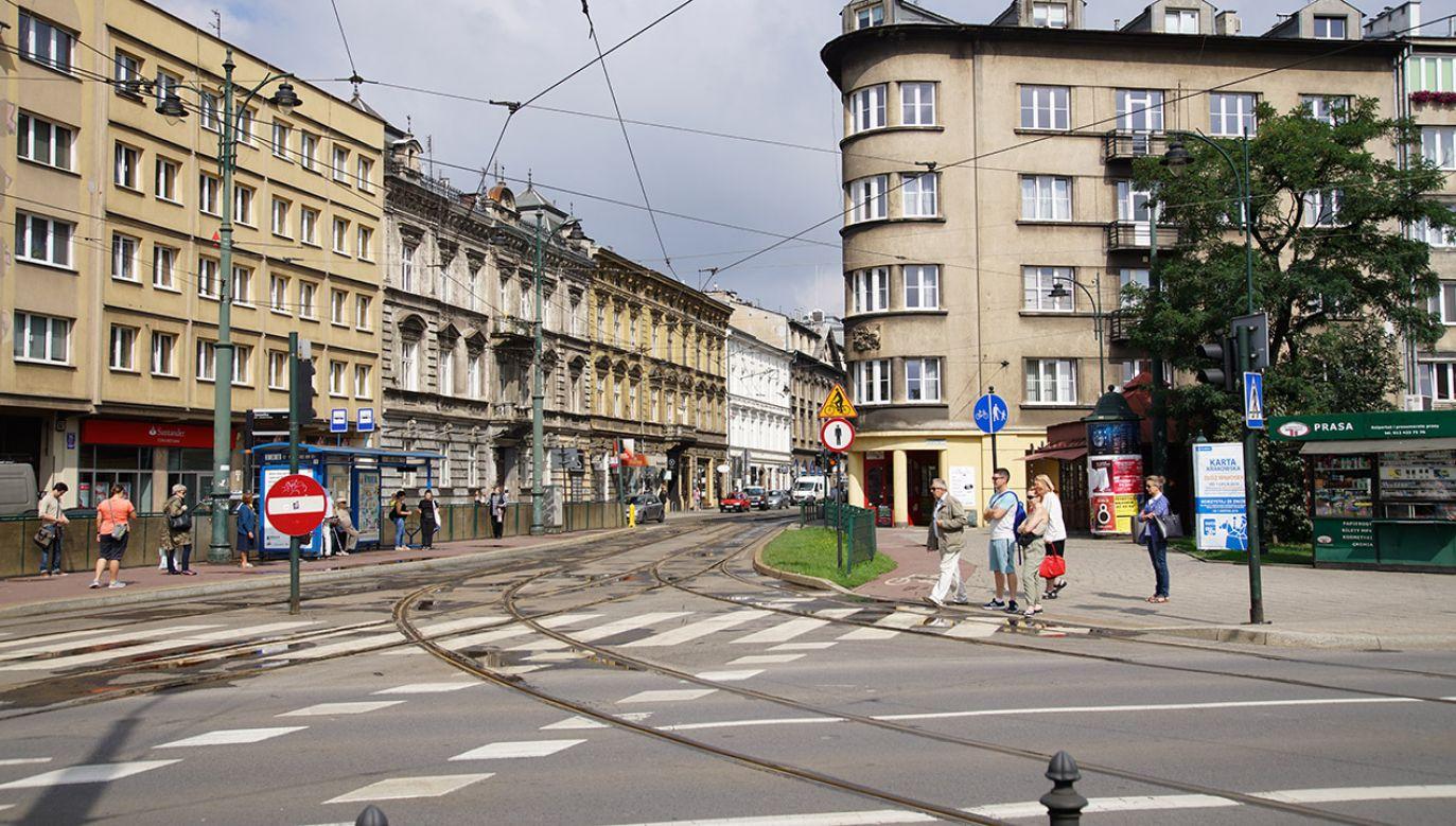 Kraków, ul. Dietla. Prace remontowe w pobliżu wykopaliska zostały wstrzymane (fot. Shutterstock/Mariusz Lopusiewicz)
