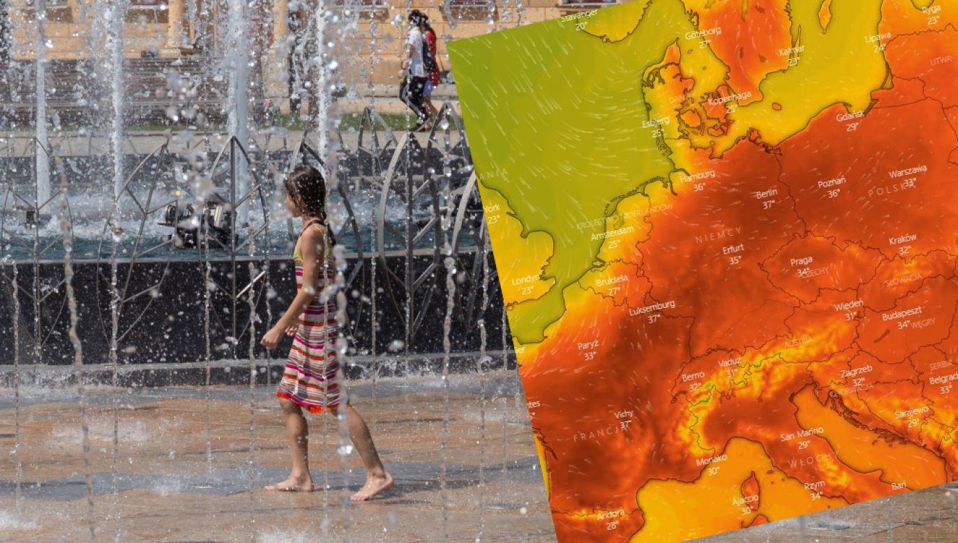 W niektórych krajach mogą paść rekordy ciepła (fot. PAP/Wojtek Jargiło; windy.com)
