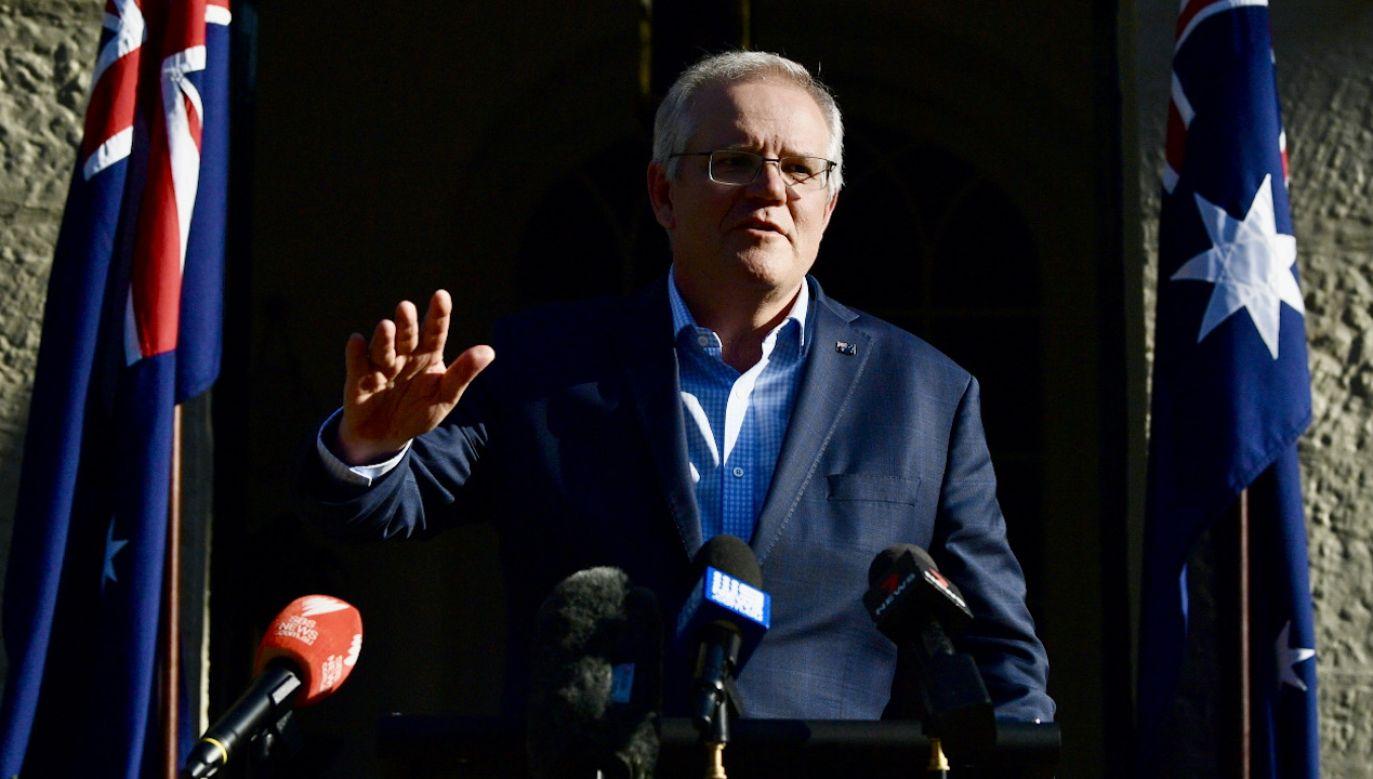 Premier Australii o skuteczności bojowej francuskich okrętów (fot. PAP/EPA/JOEL CARRETT)