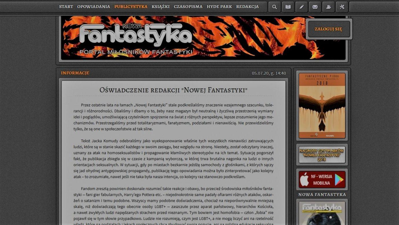 Fot. printscreeen/ www.fantastyka.pl