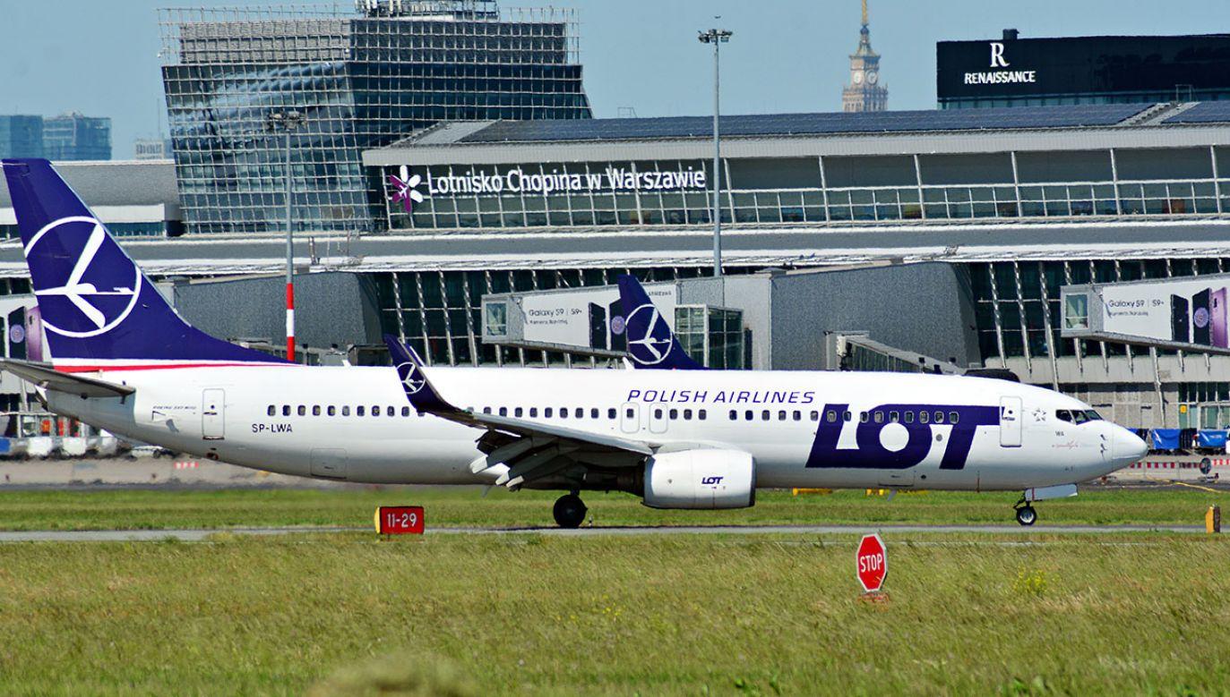 Ponad połowa pasażerów korzystających ze stołecznego portu wybrała Polskie Linie Lotnicze LOT (fot. Shutterstock/Grand Warszawski)