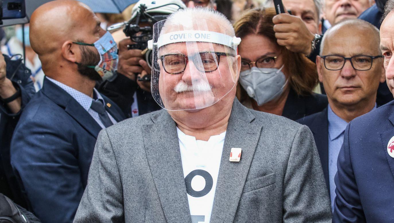 Lech Wałęsa, były prezydent RP i wieloletni lider Solidarności (fot. Michal Fludra/NurPhoto via Getty Images))