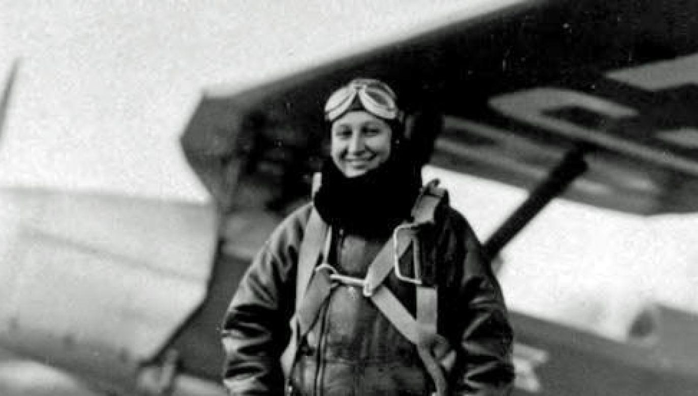 Janina Lewandowska, podporucznik pilot Wojska Polskiego (fot. Facebook)