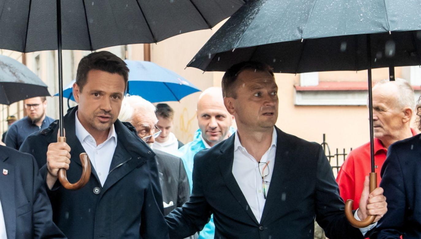 Rafał Trzaskowski i Sławomir Nitras (fot. PAP/Tytus Żmijewski)