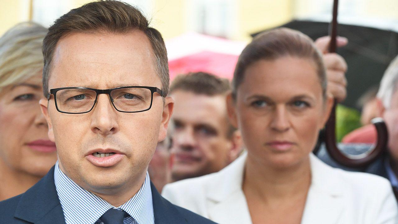 Dariusz Joński i Barbara Nowacka (fot. arch.PAP/Grzegorz Michałowski)