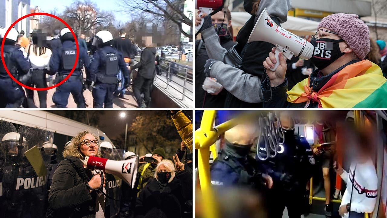 Opozycja broni ich nie zważając na fakty (fot. Policja; Forum/ Julia Zabrodzka; Attila Husejnow/SOPA Images/LightRocket via Getty Images; Policja)