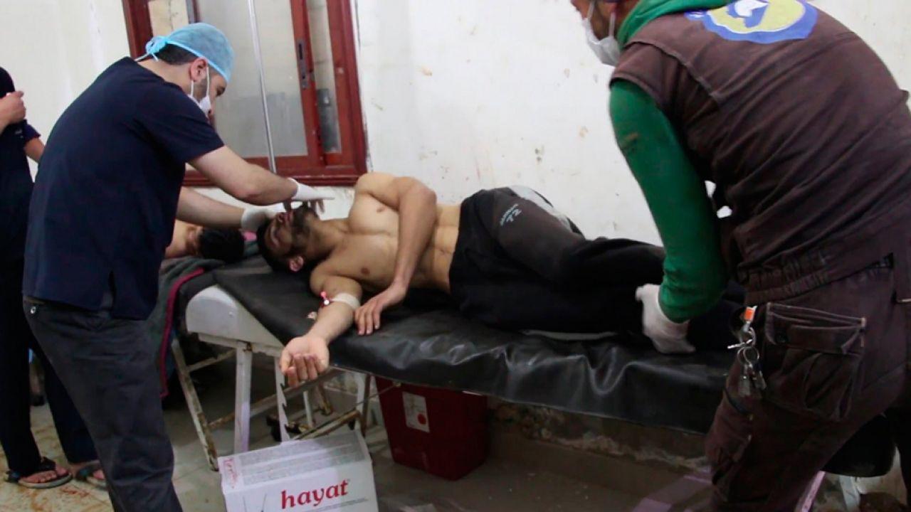 Syryjski rzad wielokrotnie zaprzeczał, że stosuje zakazane trujące środki bojowe (fot.PAP/EPA)