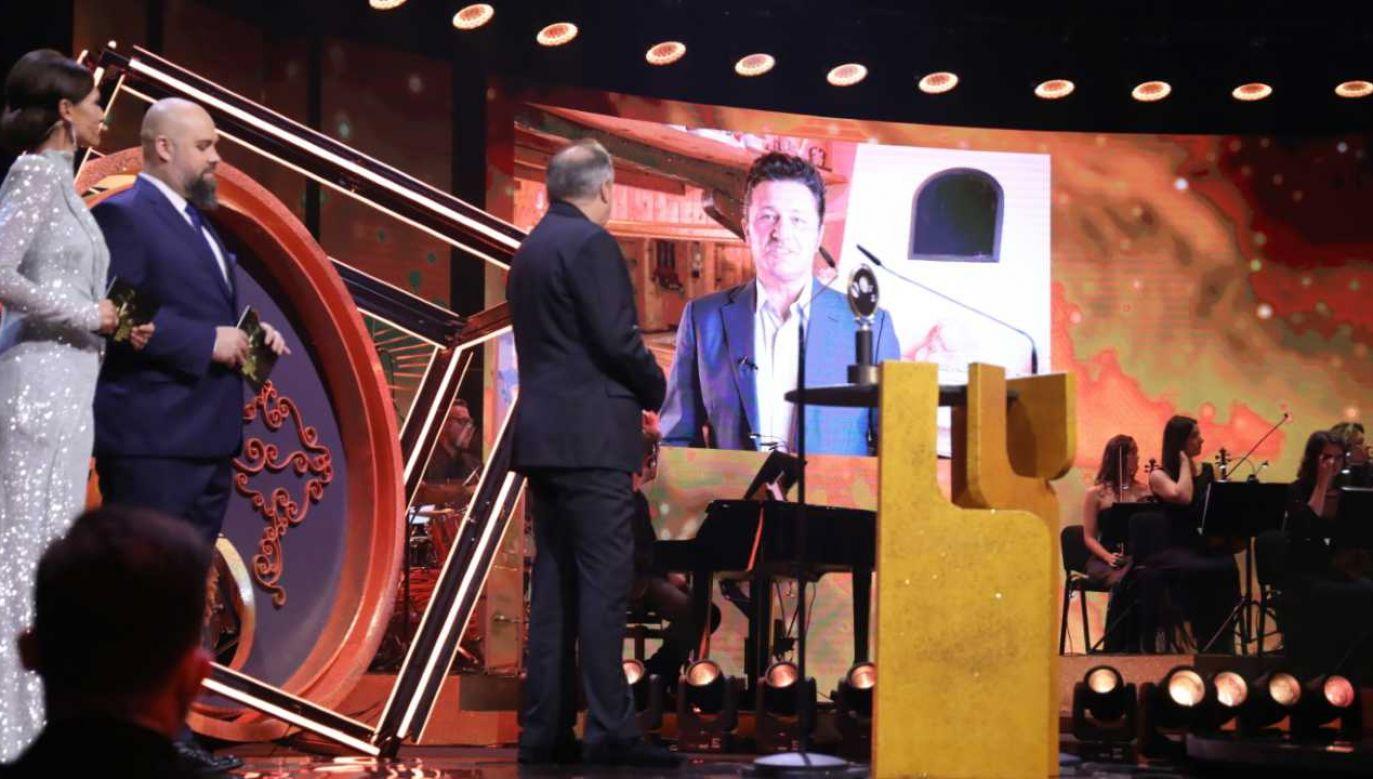 Tenor Piotr Beczała otrzymał nagrodę w kategorii Muzyka (fot. PAP/Albert Zawada)