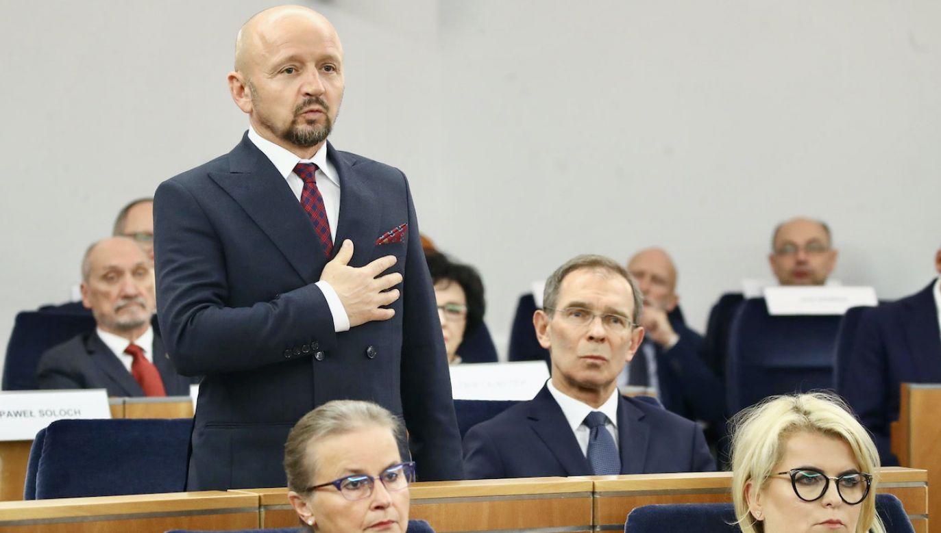 Senator Jacek Bury od wyborów parlamentarnych należał do klubu Koalicji Obywatelskiej (fot. M.Józefaciuk/Kancelaria Senatu)