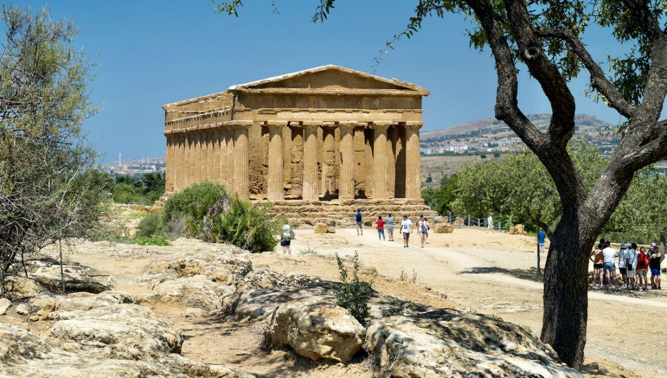 Jedną z najlepiej zachowanych greckich świątyń na świecie jest świątynia Zgody (fot. Tim Graham/Getty Images)