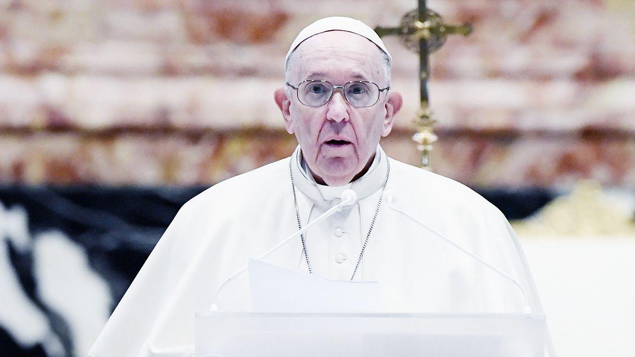 O wizycie Franciszka poinformowała prezydent Słowacji (fot. PAP/EPA/FILIPPO MONTEFORTE / POOL)
