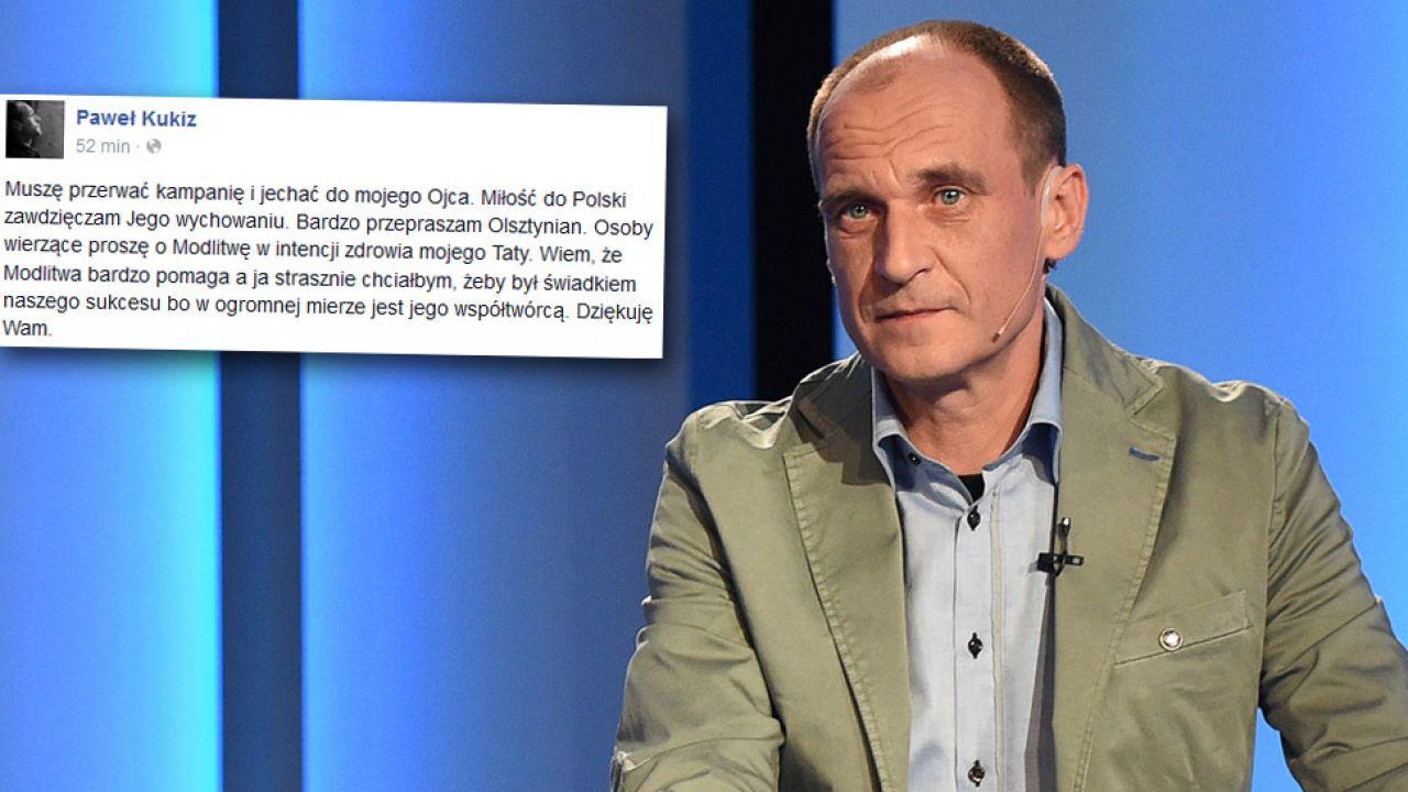 Paweł Kukiz przerywa kampanię (fot. facebook.com/Paweł Kukiz/PAP/Radek Pietruszka)