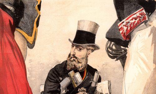 Karykatura Leopolda II z pisma