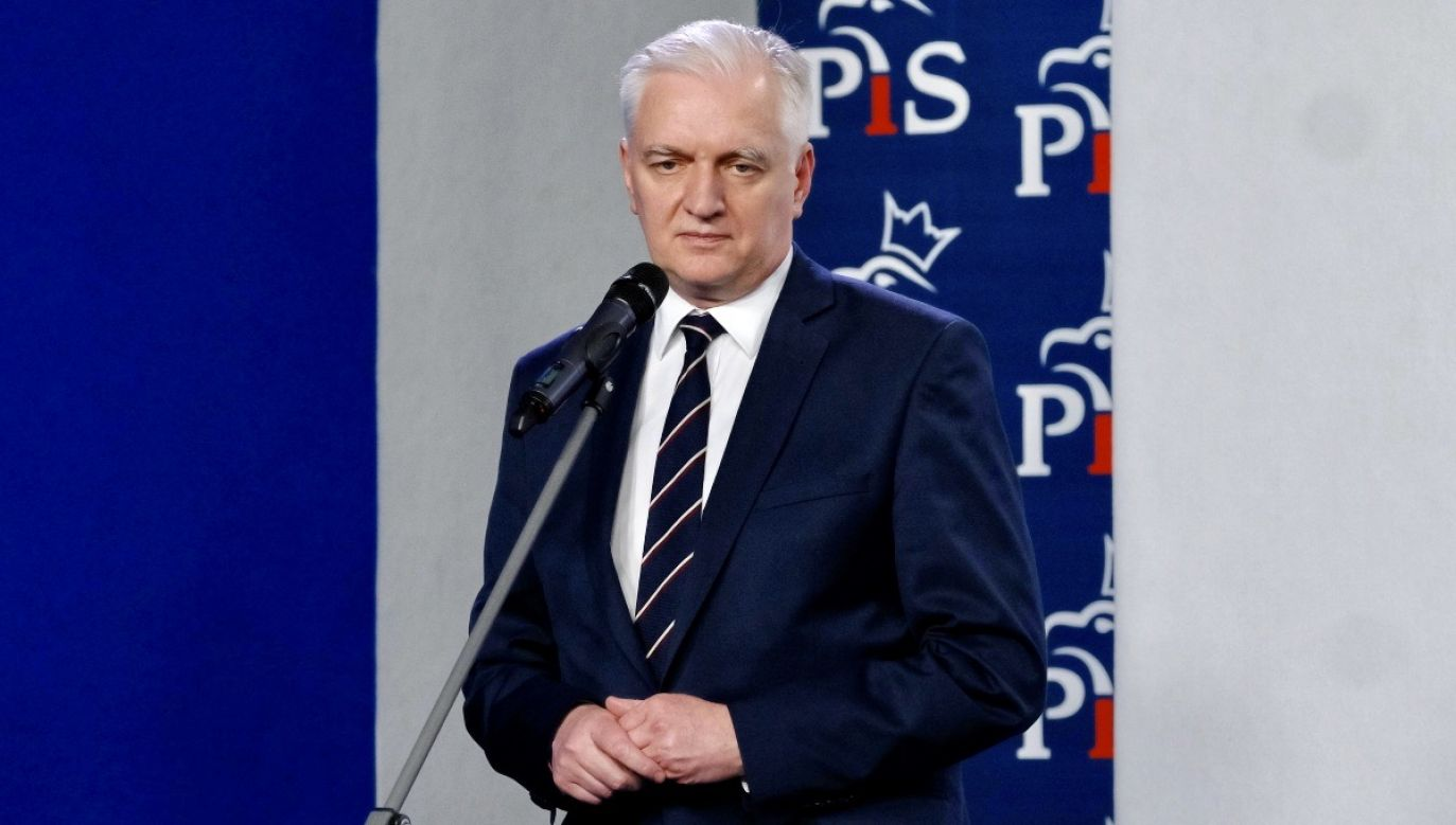 Lider Porozumienia Jarosław Gowin (fot. PAP/Mateusz Marek)
