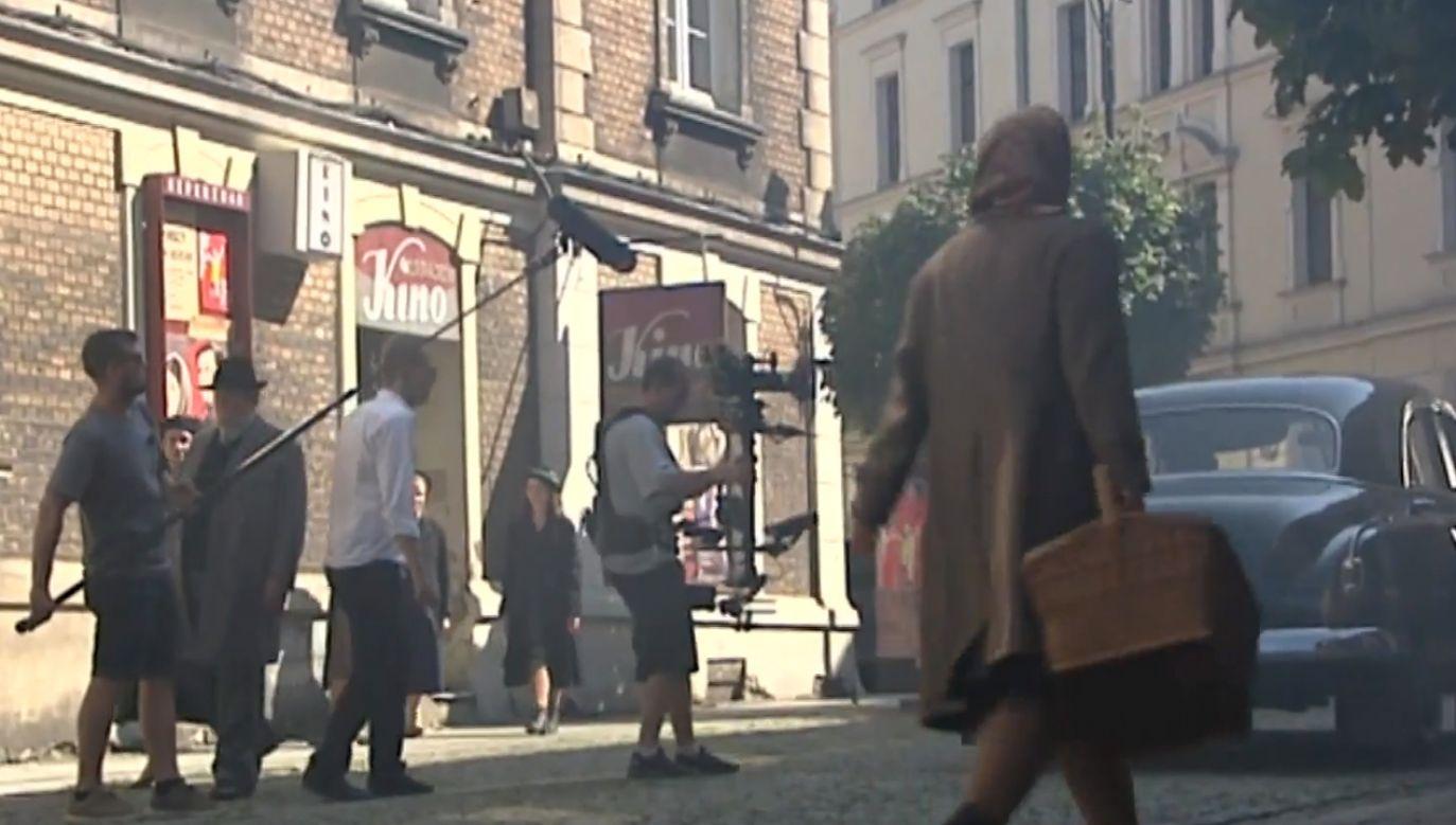 Centrum Katowic niczym Warszawa z czasów II wojny światowej (fot. TVP)