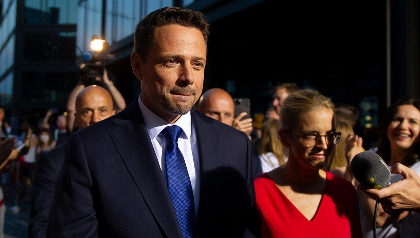 Polityk był gościem stacji TVN24 (fot. Aleksander Kalka/NurPhoto via Getty Images)