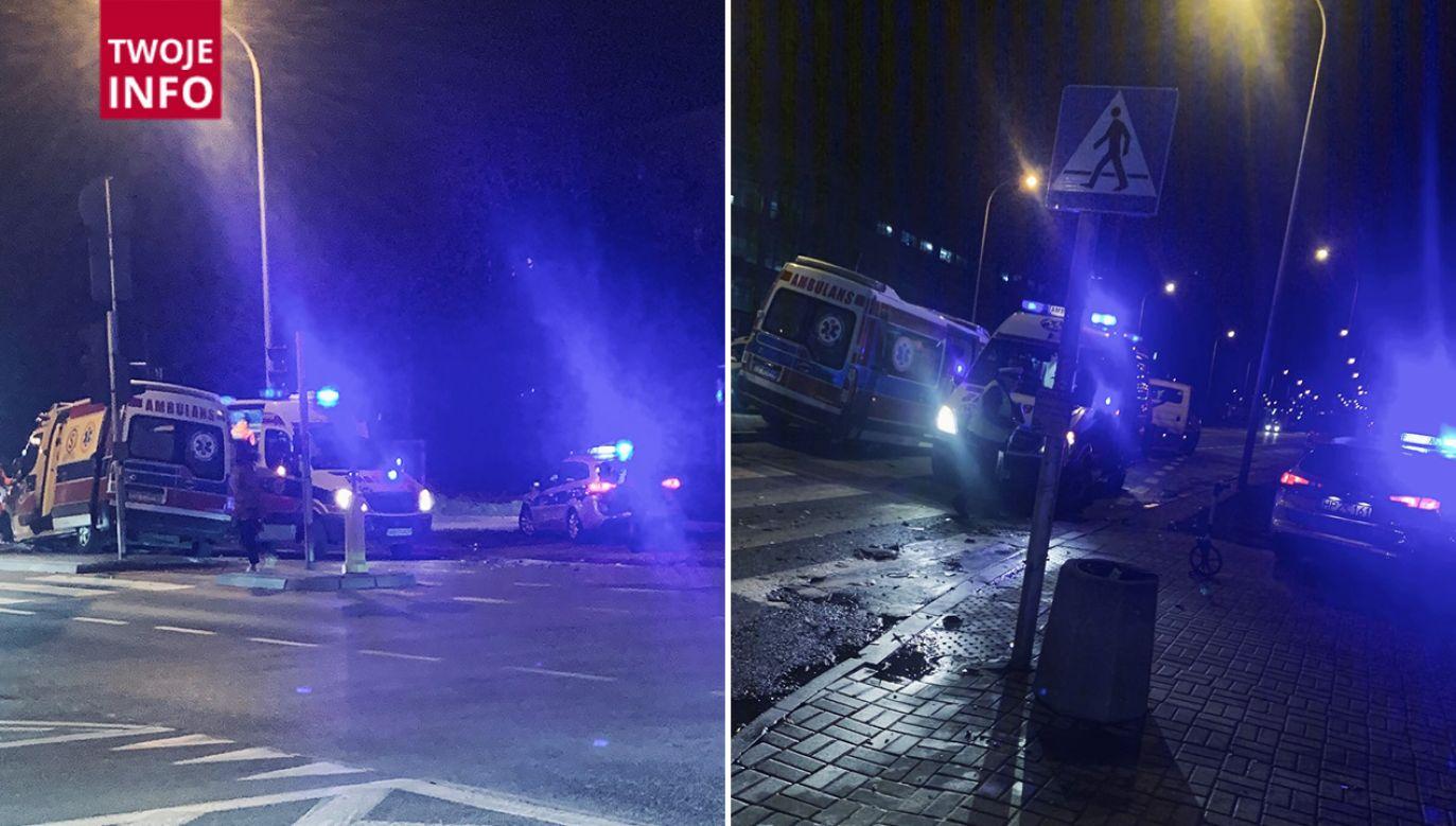Na miejscu pracują policjanci i pracownicy Zarządu Transportu Publicznego (fot. Twoje Info)