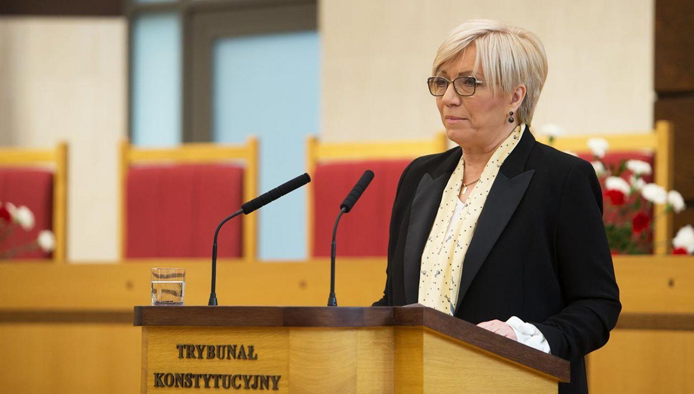 Nie sądzę, że Polska ma konflikt z kimkolwiek – mówi Julia Przyłębska (fot. Forum/Krystian Maj)