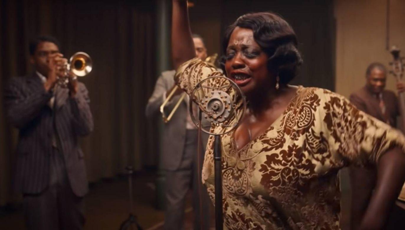 """""""Ma Rainey's Black Bottom"""" to historia Ma Rainey, czarnoskórej wokalistki bluesowej z lat 20. XX w. (fot. kadr z filmu)"""